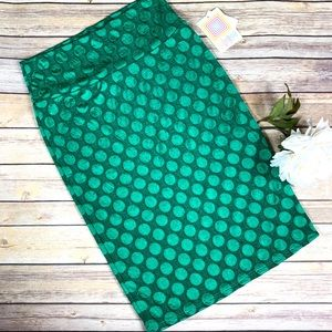 LulaRoe Green Cassie Stylish Pencil Skirt NWT Sz.S